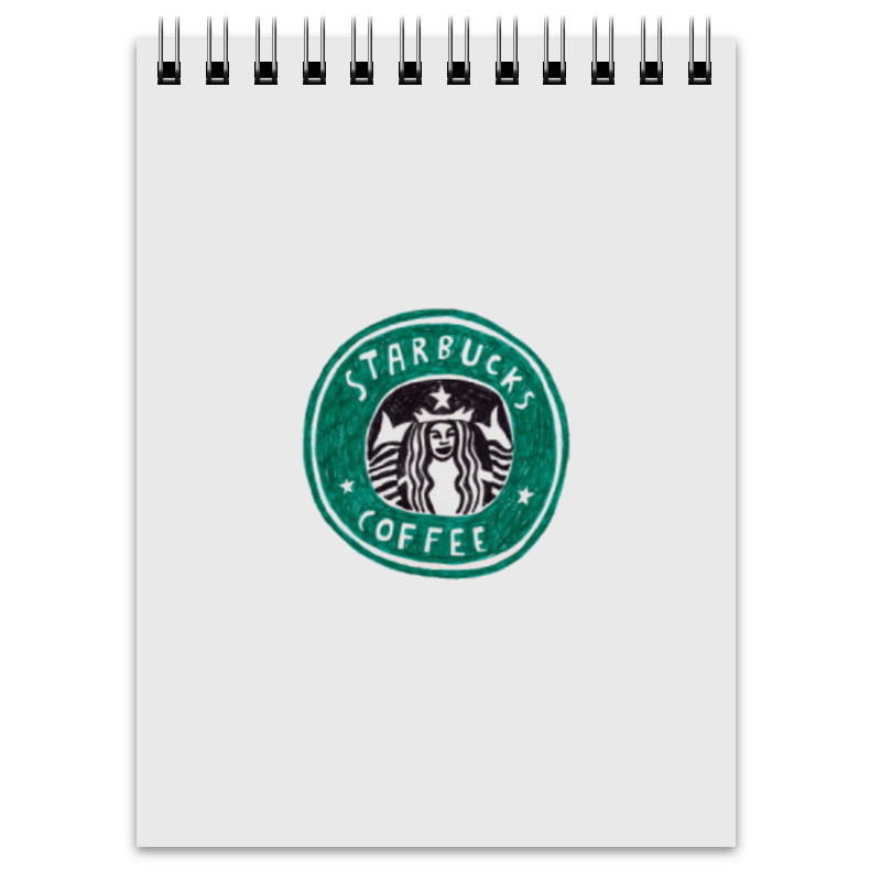 Блокнот Printio Starbucks орматек орматек comfort duos soft middle grey 90x190