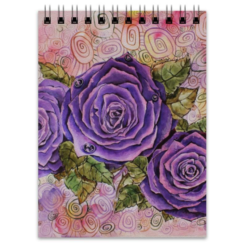 Блокнот Printio Сиреневые розы