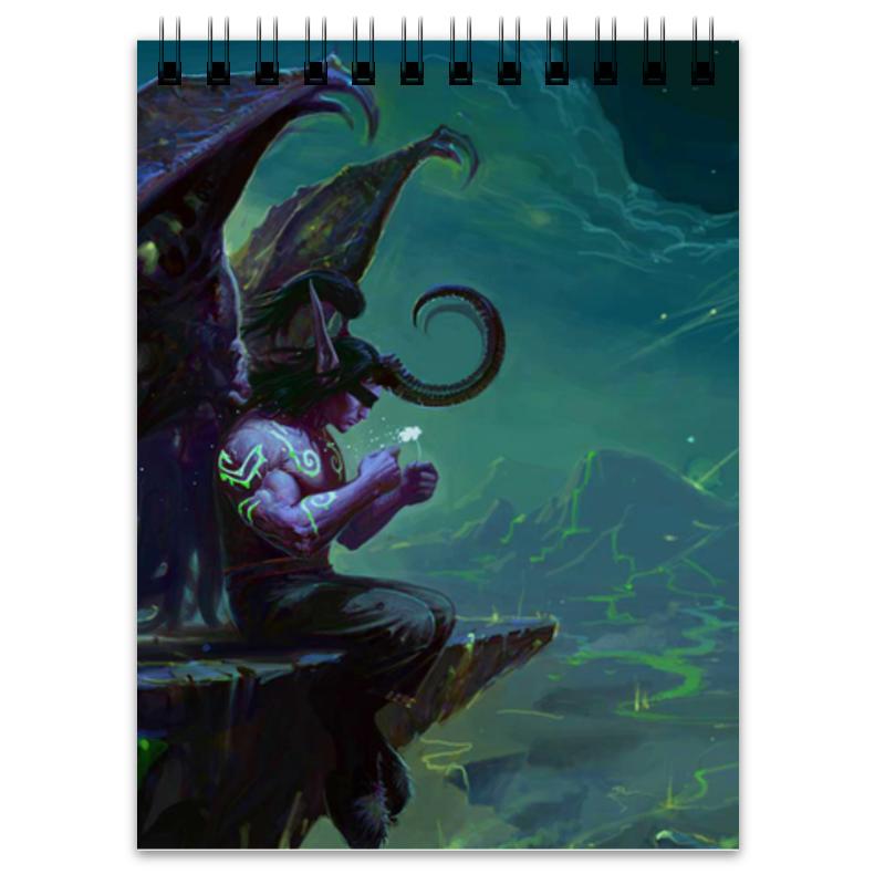 Блокнот Printio Warcraft collection: illidan эспадрильи zenden collection zenden collection ze012agpre18