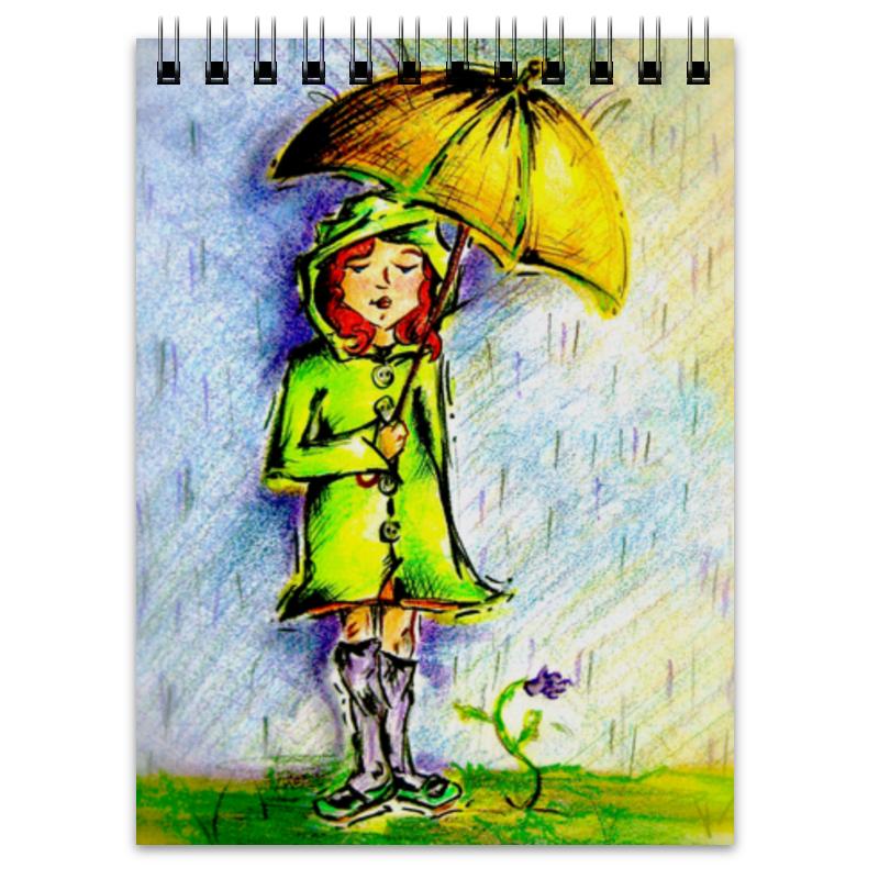 Блокнот Printio Дождик, дождик, уходи! цена