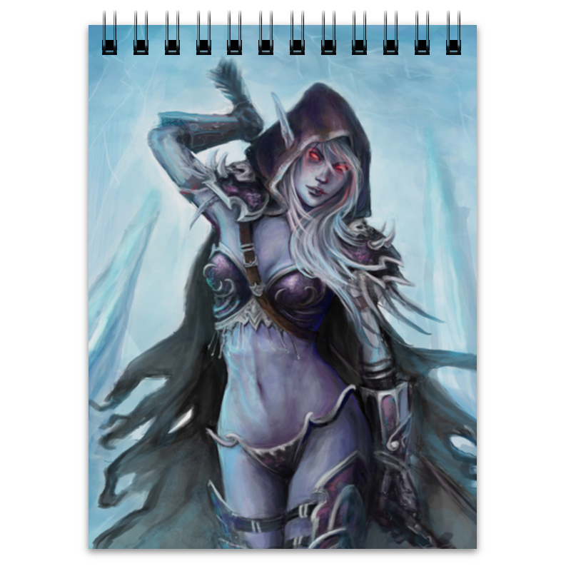 Блокнот Printio Sylvanas windrunner world of warcraft wow pvc action figure display toy doll forsaken queen sylvanas windrunner