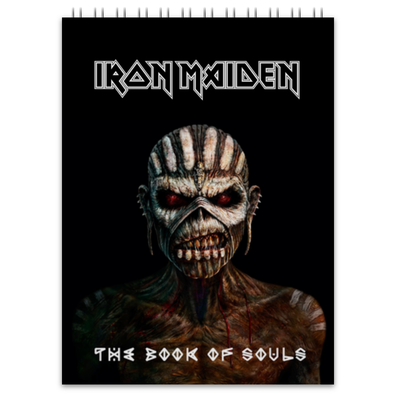 цена на Блокнот Printio Iron maiden book of souls