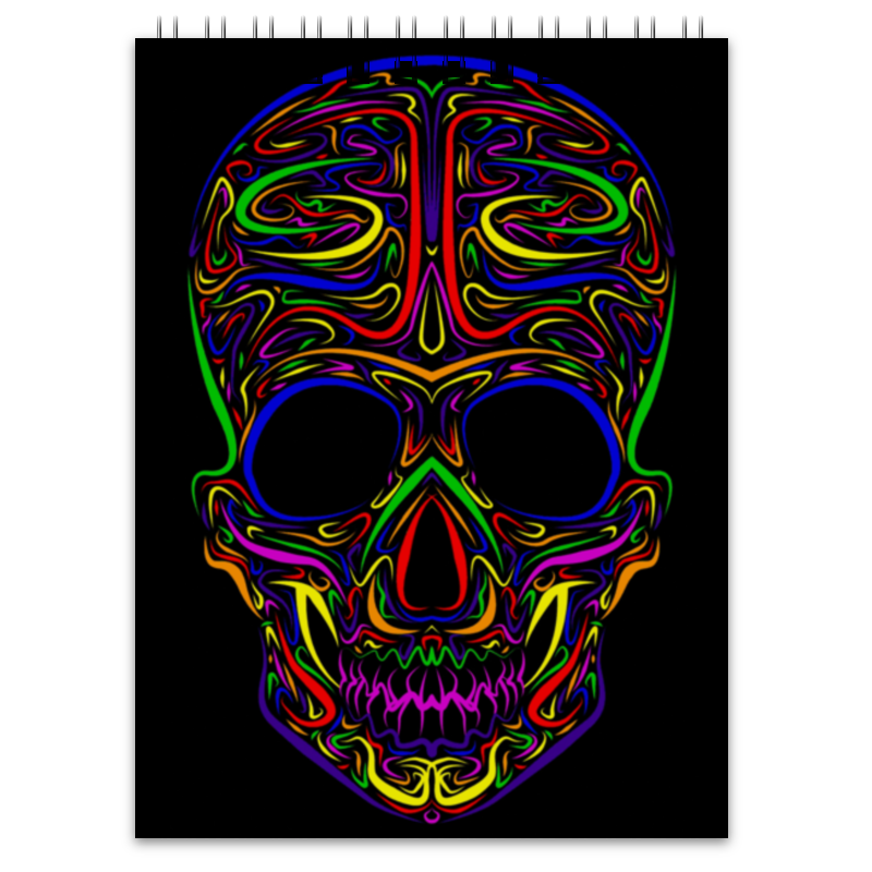 Блокнот Printio Skull art блокнот printio king skull