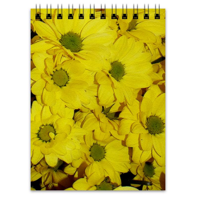 Блокнот Printio Жёлтые хризантемы