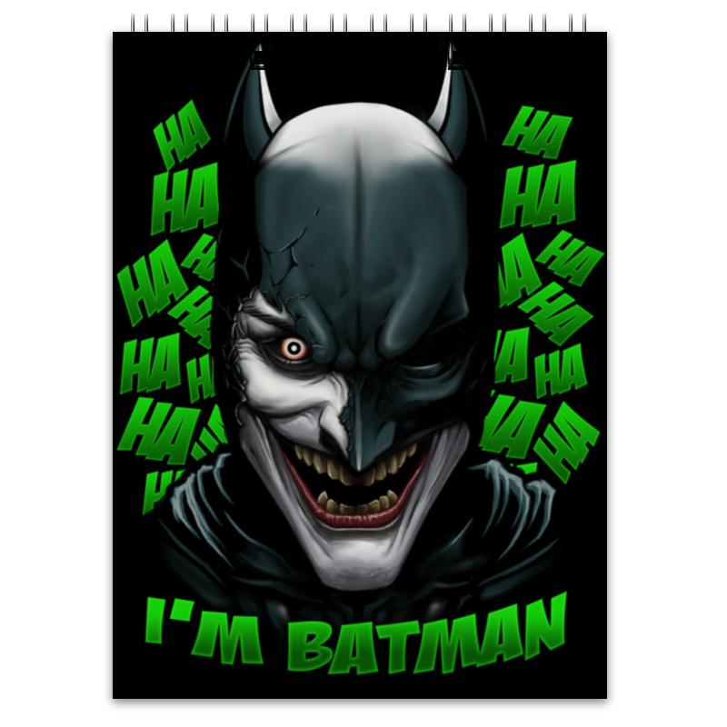 Блокнот Printio Бэтмен/джокер лонгслив printio джокер бэтмен