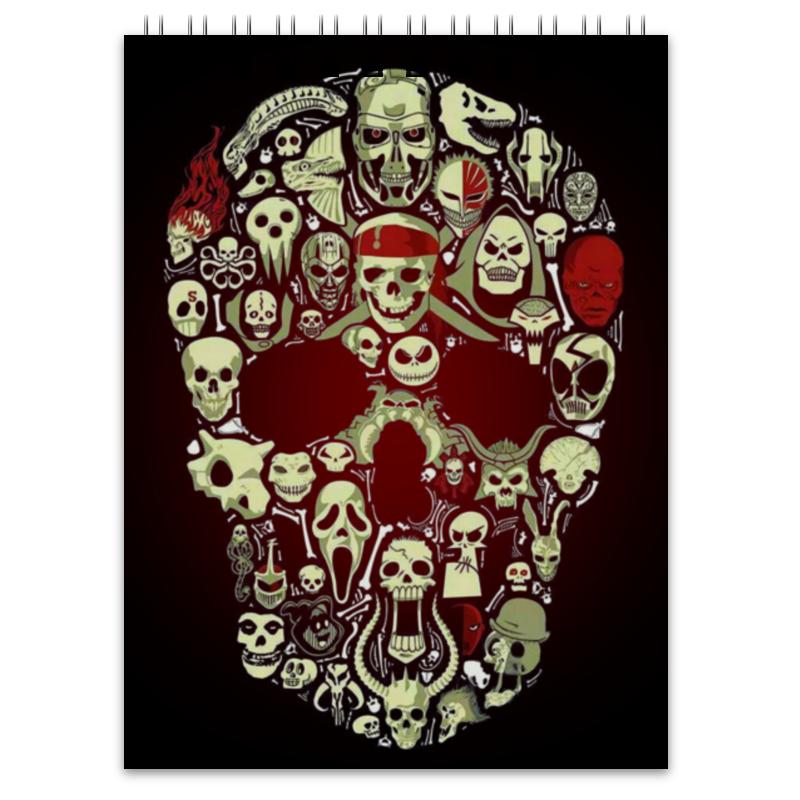 Блокнот Printio Skull art худи print bar skull