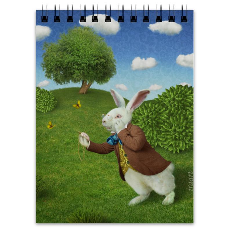 Блокнот Printio Белый кролик кролик белый великан в спб купить