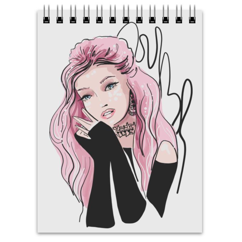 цена Printio Модная девушка, розовые волосы. фэшн иллюстрация онлайн в 2017 году