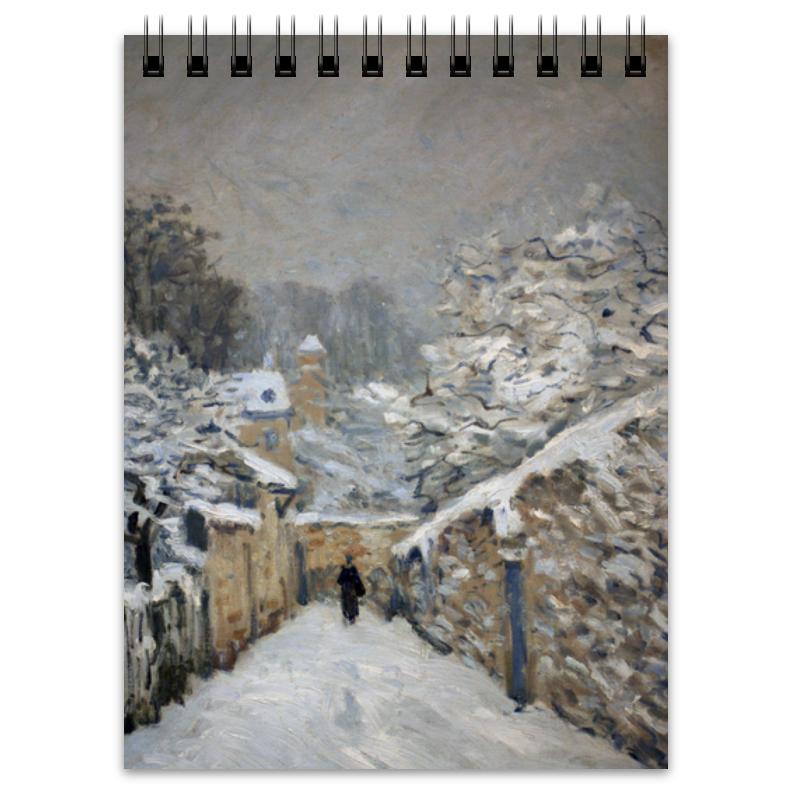 Printio Снег в лувесьене (картина альфреда сислея)