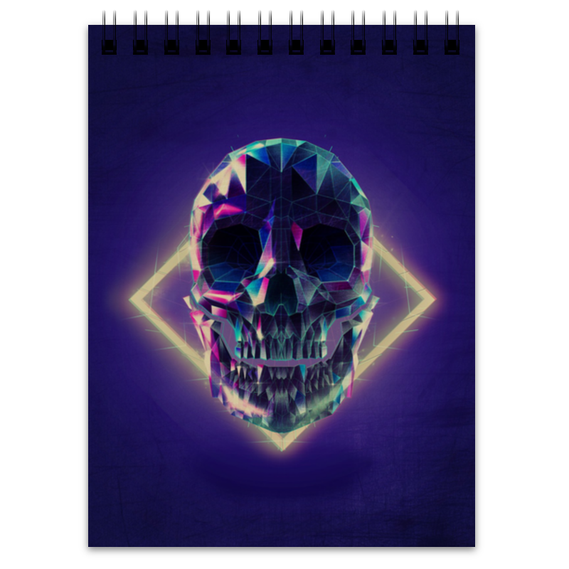 Блокнот Printio Low poly skull тетрадь на пружине printio low poly skull