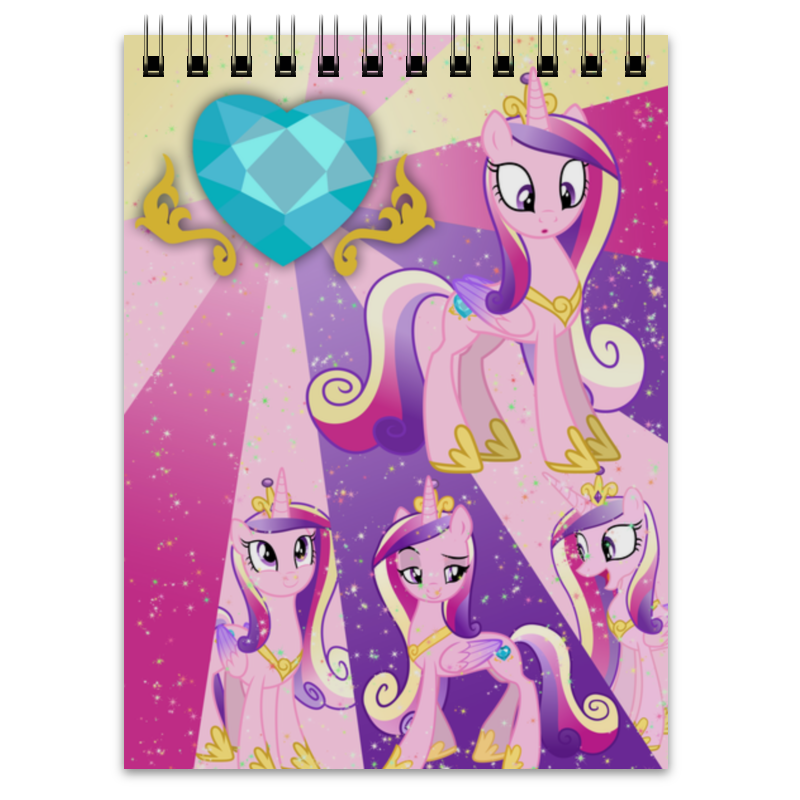 Блокнот Printio Princess cadence color line