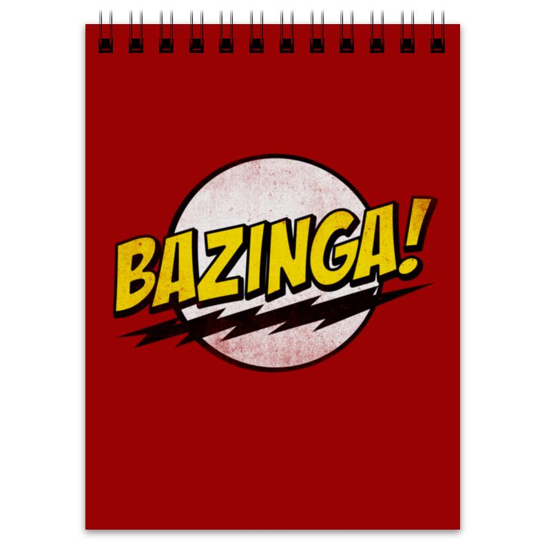 Блокнот Printio Bazinga! худи print bar bazinga