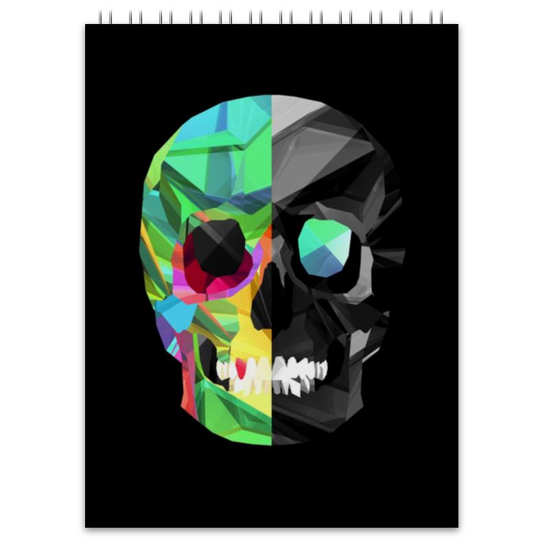 Блокнот Printio Digital skull fashion square skull pattern decorative pillowcase without pillow inner