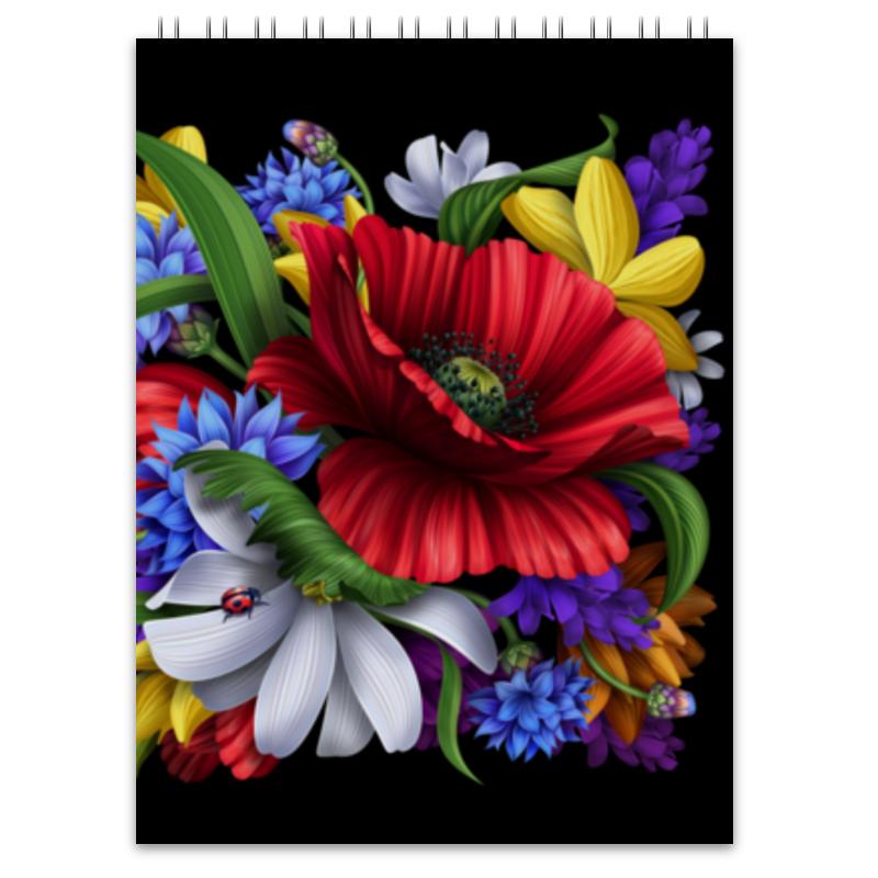 Блокнот Printio Композиция цветов композиция из цветов жду свидания