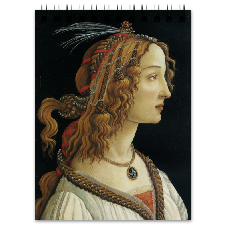 Printio Портрет молодой женщины (боттичелли) enrico vignati ritratto di famiglia
