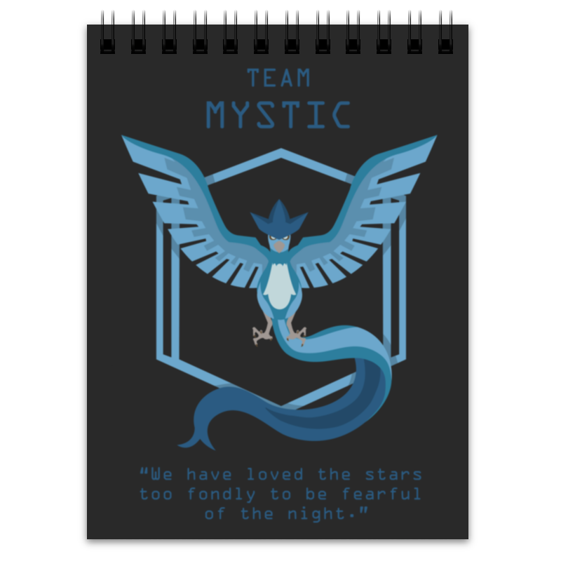 Блокнот Printio Team mystic ufo people 47009