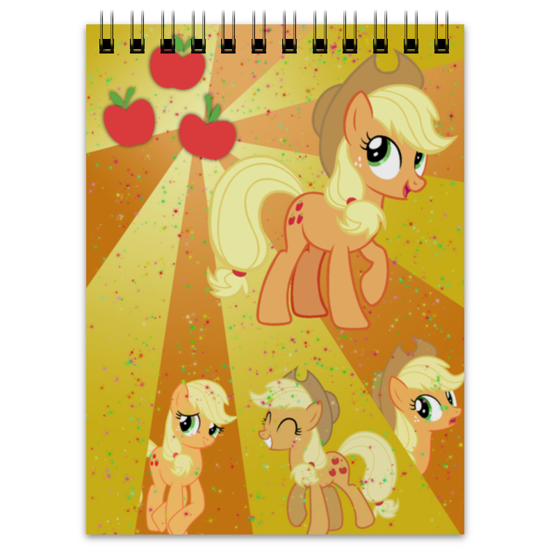Блокнот Printio Applejack color line холст 40x55 printio applejack color line