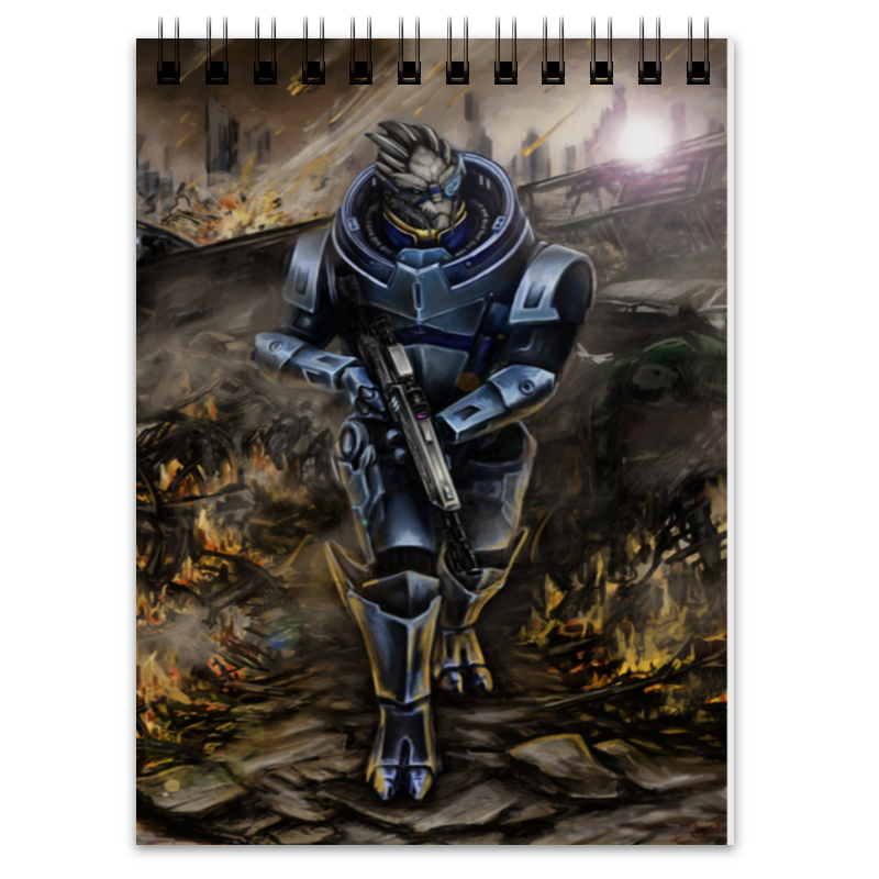 Блокнот Printio Mass effect (garrus vakarian) mass effect volume 4 homeworlds