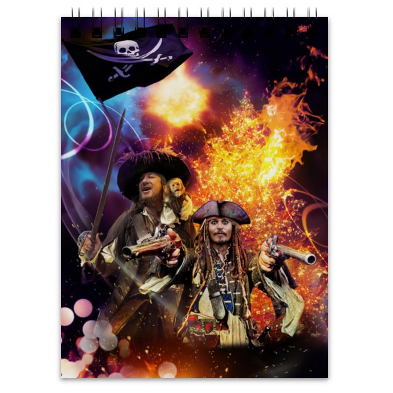 Блокнот Printio Зажигательный праздник с пиратами карибского моря.