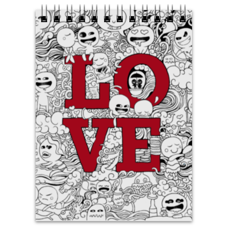 Блокнот Printio Doodle love art doodle love a journal of self discovery