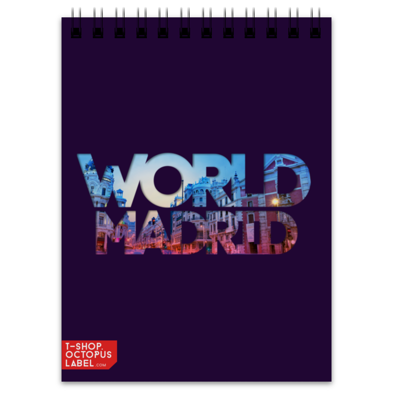 Блокнот Printio different world: madrid mutua madrid open pass page 8