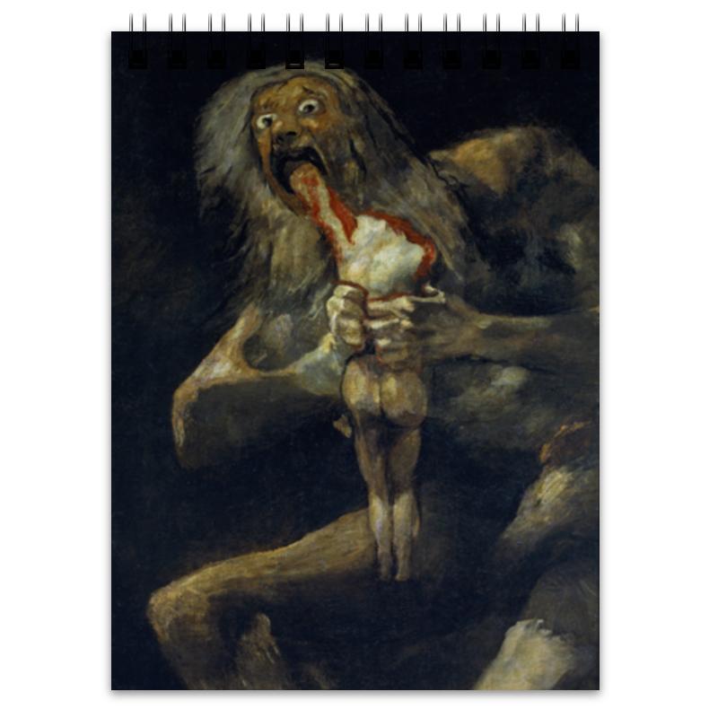 Блокнот Printio Сатурн, пожирающий своего сына (гойя) блокнот printio роспись русского севера