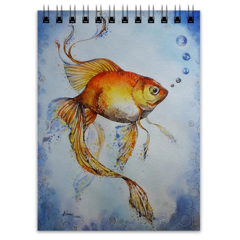 Блокнот Printio Рыбка золотая золотая рыбка вуалехвост купить в минске