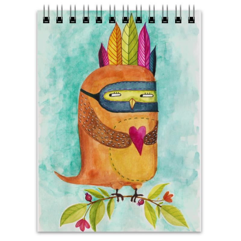 Блокнот Printio Рыжая сова индеец сумка printio рыжая сова индеец