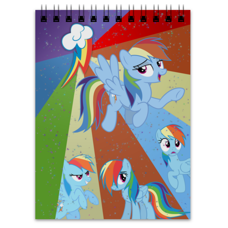 Блокнот Printio Rainbow dash color line блокнот printio broken rainbow