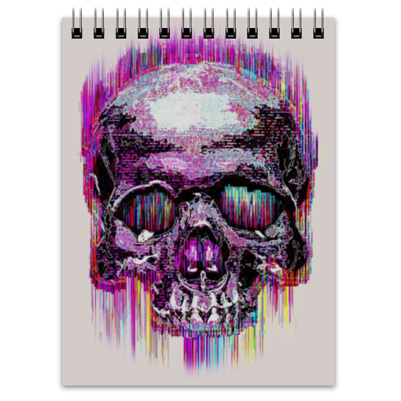 Блокнот Printio Skull art блокнот printio skull in triangle