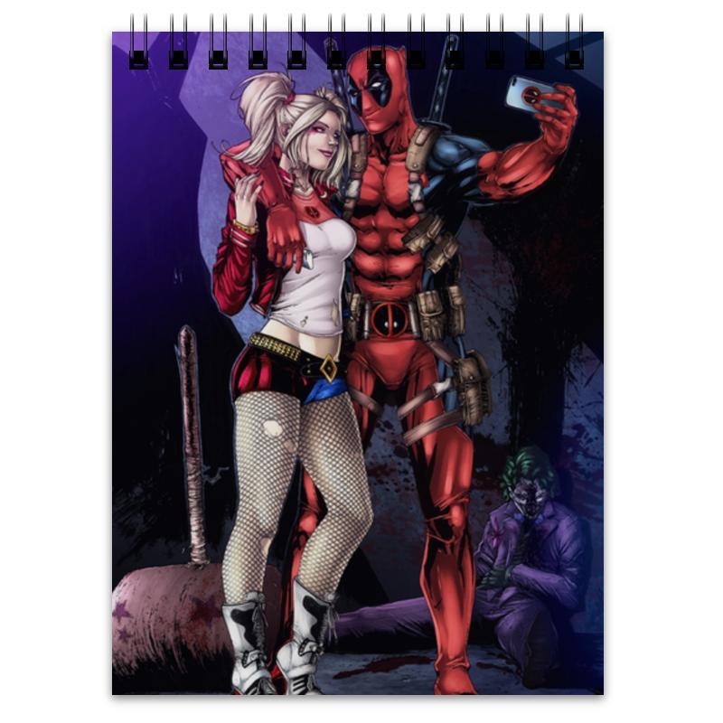 Блокнот Printio Deadpool & harley quinn блокнот printio блокнот ведьмочки