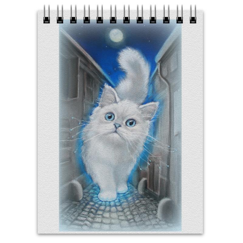 Блокнот Printio Лунный кот блокнот хорошо утро кот