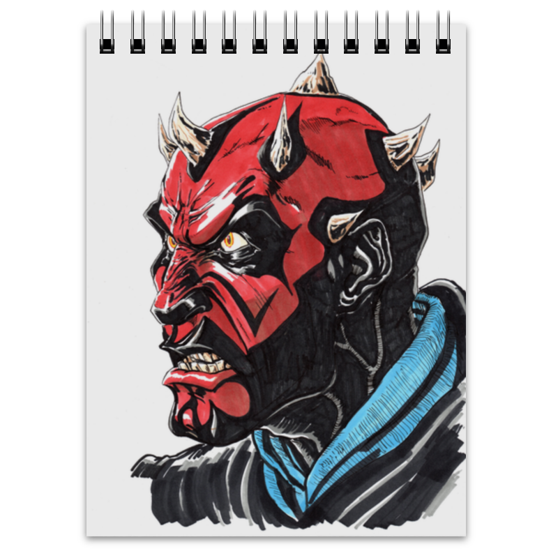 Блокнот Printio Дарт мол (darth maul) блокнот printio дарт мол darth maul
