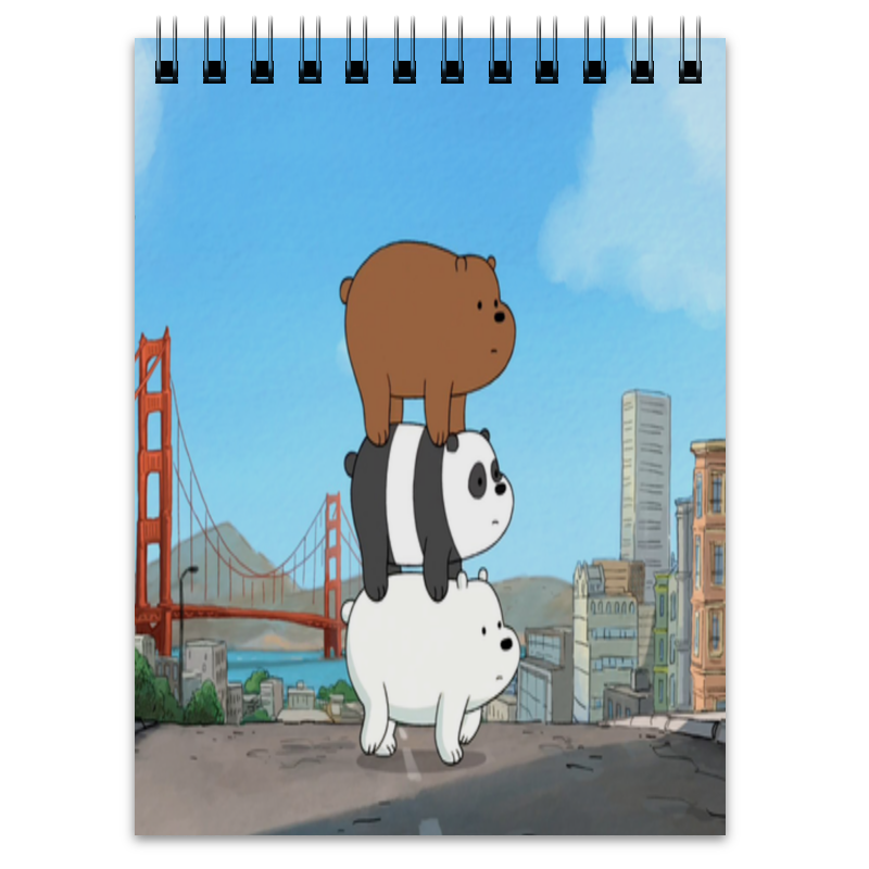 Блокнот Printio We bare bears