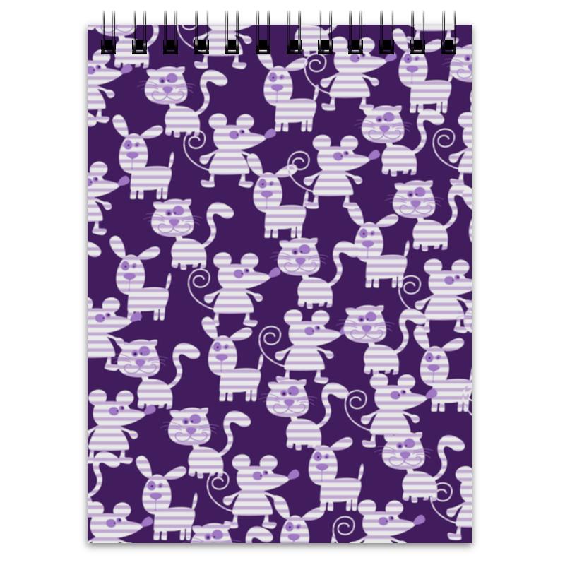 Блокнот Printio Коты, мыши и собаки собаки коты щетки расчески щетки ванночки прочный черный