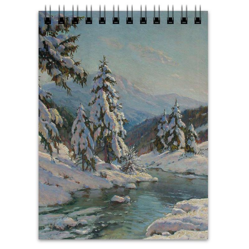 Printio Зимний пейзаж с елями (картина вещилова) блокнот printio зимний блокнот