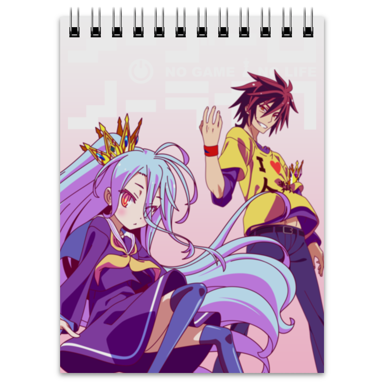 Блокнот Printio No game no life jamaica jamaica no problem