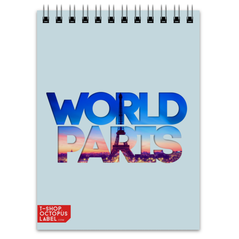 Блокнот Printio different world paris