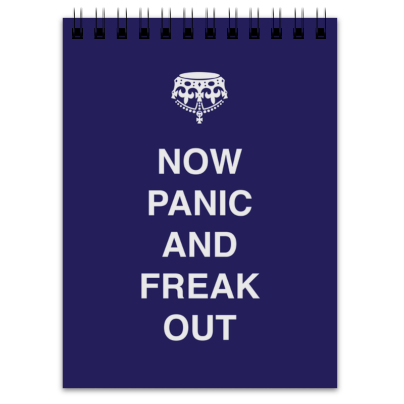 Блокнот Printio Now panic and freak out лонгслив printio keep calm and carry on