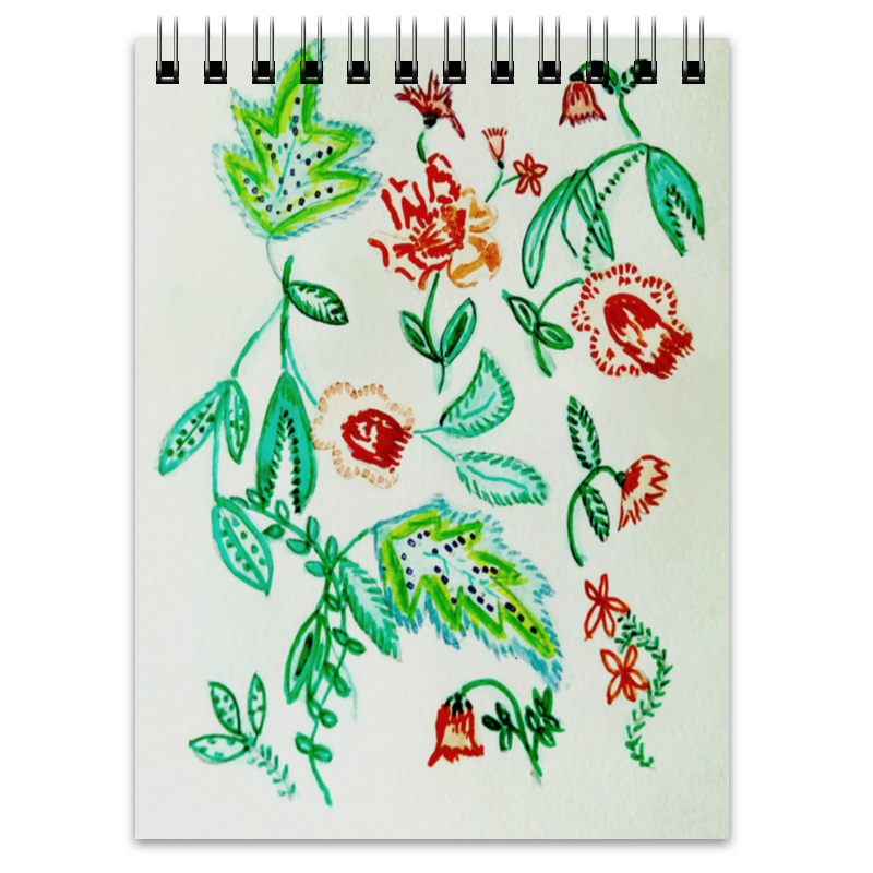 Блокнот Printio Дикие цветы