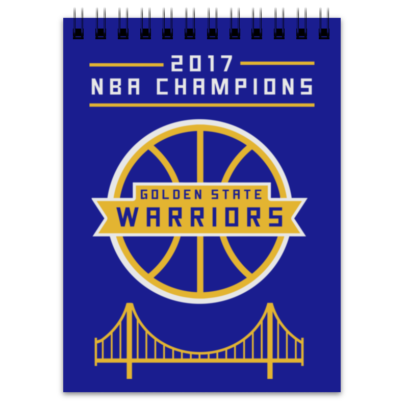 Блокнот Printio Golden state champions saucer state