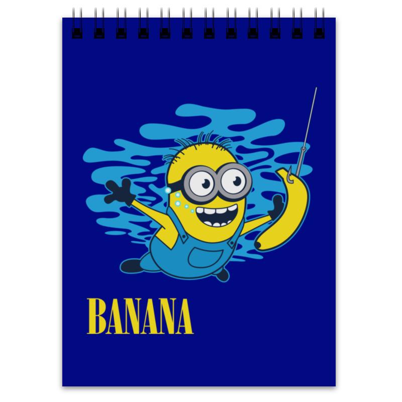 Блокнот Printio Banana. миньоны блокнот printio я блокнот
