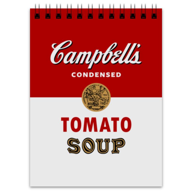 Блокнот Printio Суп кэмпбелл суп том кха