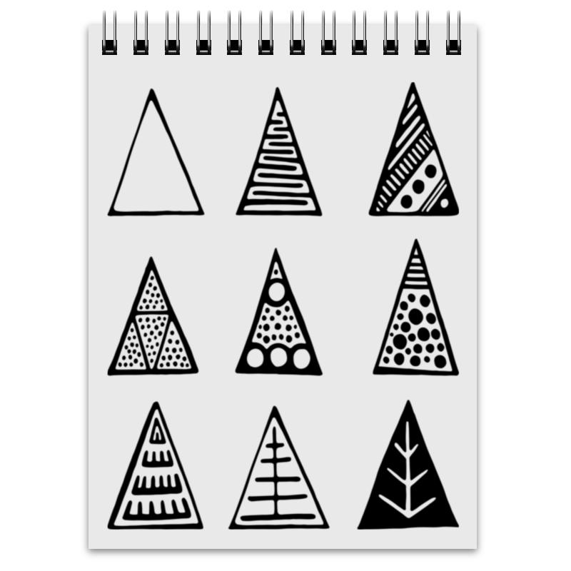 Блокнот Printio Triangles закончи эту книгу черно белая обложка