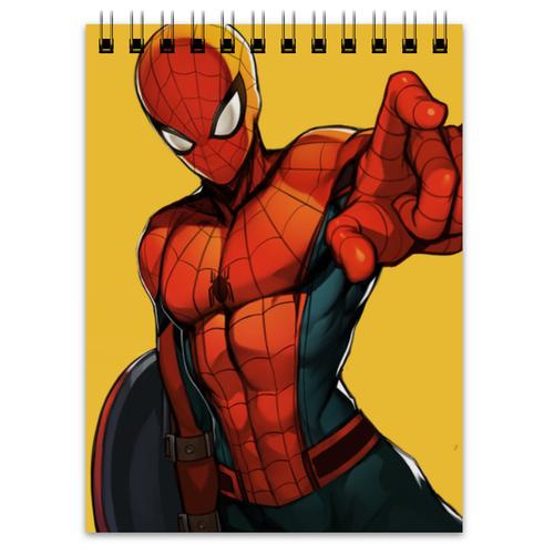 """Блокнот """"Человек-паук (Spider-man)"""" - spider-man, человек-паук, питер паркер, civil war, гражданская война"""
