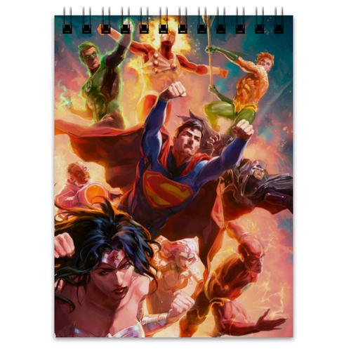 "Блокнот ""Лига Справедливости"" - комиксы, бэтмен, супермэн, dc comics, justice league"