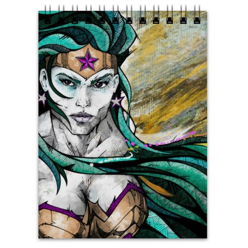"""Блокнот """"Чудо-Женщина (Wonder Woman)"""" - комиксы, dc comics, чудо-женщина, wonder woman, вондер вуман"""