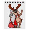 """Блокнот """"Дед мороз с оленем"""" - праздник, новый год, радость, дед мороз, олень"""