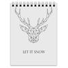 """Блокнот """"Dear Deer"""" - рисунок, дизайн, олень, минимализм, рога"""