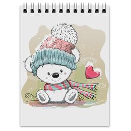 "Блокнот ""Медвежонок"" - юмор, зима, рисунок, мультяшка, медвежонок"
